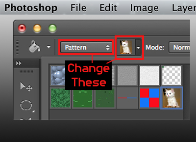 Paint bucket toolbar
