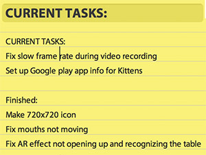 Current Tasks